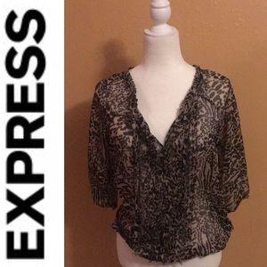 Express leopard shirt size small